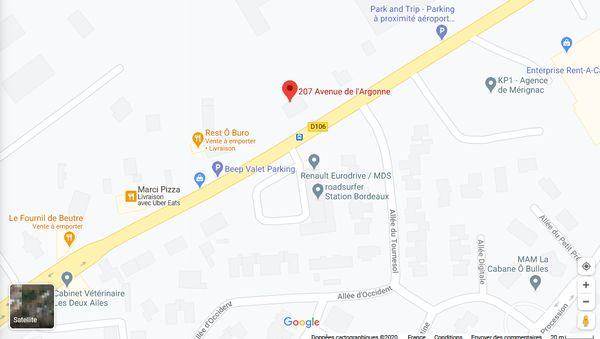 Google Map Aquitaine Park 600x399